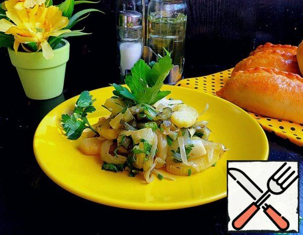 Warm Zucchini Salad with Cucumber Recipe