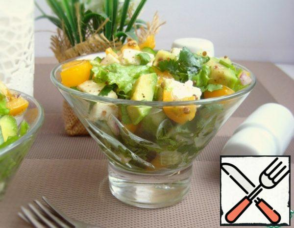 Salad with Avocado and Adyghe Cheese Recipe