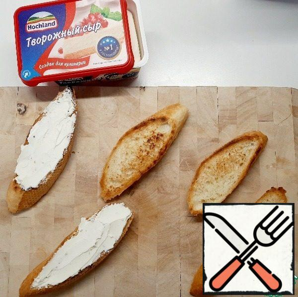 Cool a little and spread with cottage cheese.
