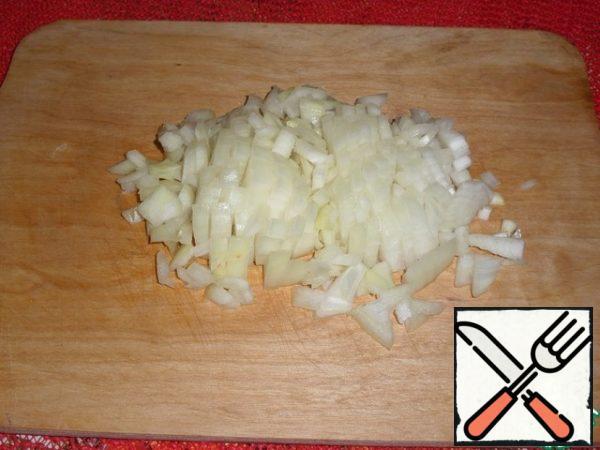Chop the onion.