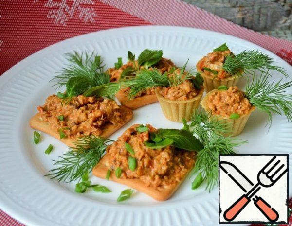 Vegetable Caviar with Cream Cheese Recipe