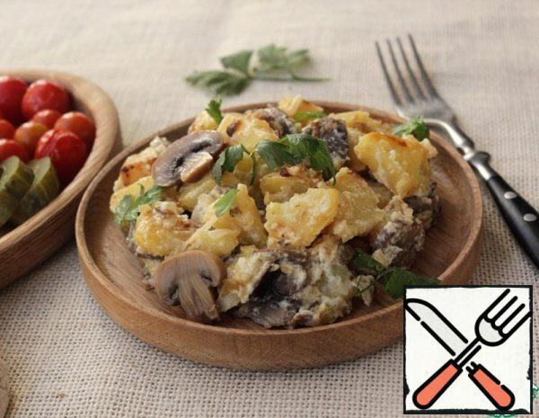Potatoes with Mushrooms in Sour Cream Recipe