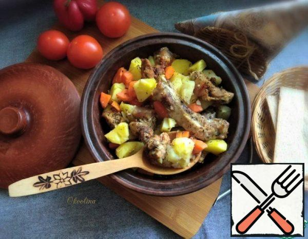 Pork in its Own Juice with Vegetables Recipe