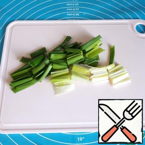 Chop the green onion.