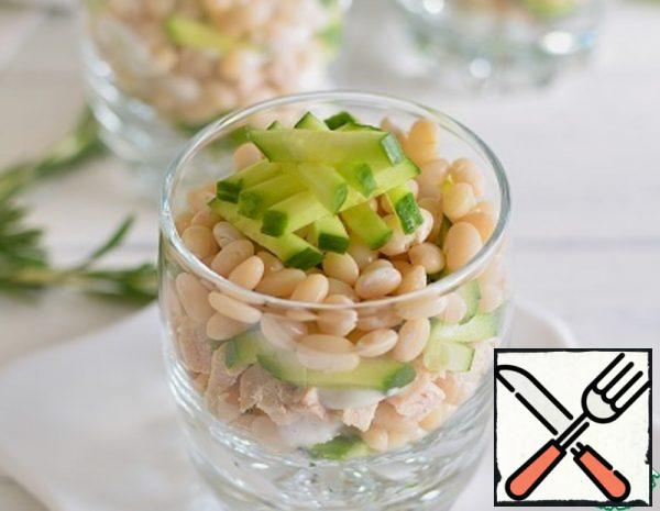 Salad with Beans and smoked Chicken Recipe