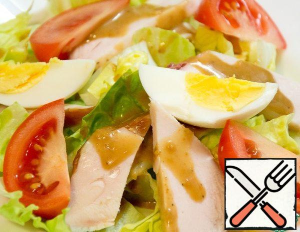 Vegetable Salad with Chicken and Egg Recipe