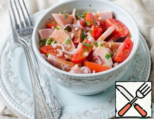 Salad with Ham, Tomatoes and Onions Recipe