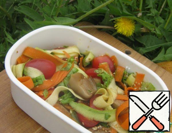 Vegetable Salad with pickled Mushrooms Recipe
