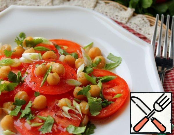 Salad with Chickpeas and Tomatoes Recipe