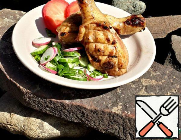 Grilled Chicken in Plum-Soy Marinade Recipe