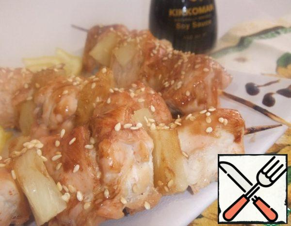 Chicken Skewer with Pineapples Recipe