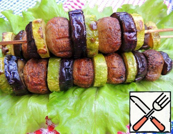 Shish Kebab of Mushrooms with Vegetables Recipe