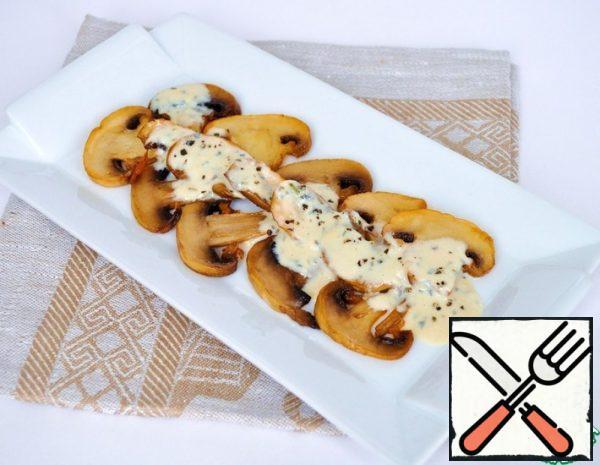Warm Carpaccio with Mushrooms and Cream Sauce Recipe