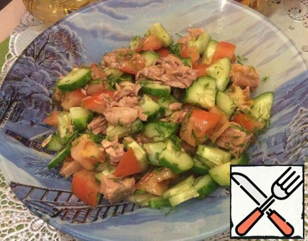 Salad with Tuna and Fresh Vegetables Recipe