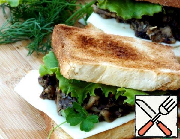 Fried Mushrooms on Toast Recipe