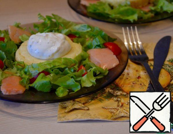 Salad with Salmon and Cheese Souffle Recipe