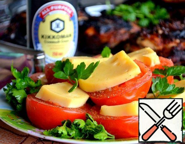 Grilled Cheese spiced Tomatoes Recipe