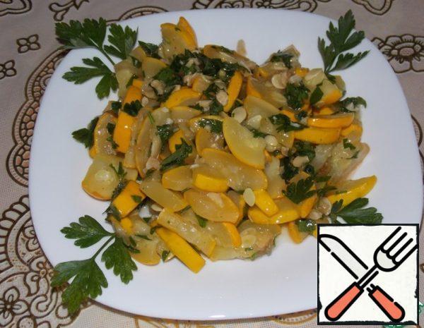 Zucchini in a Nut Dressing Recipe
