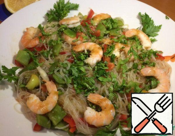 Funchosa with Shrimp and Beans Recipe