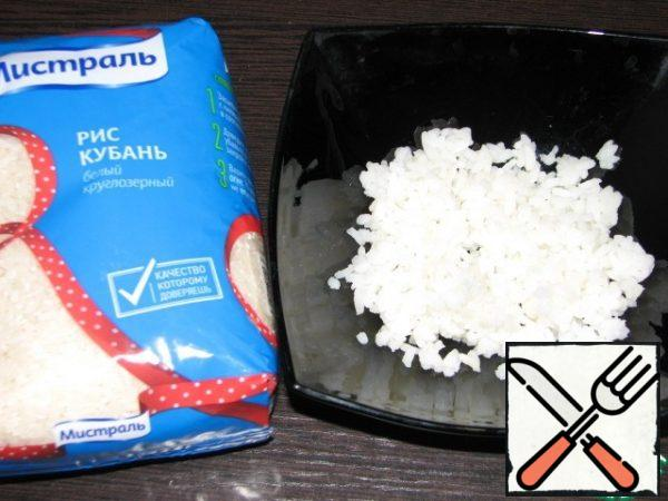 Boil the rice according to the instructions on the package.