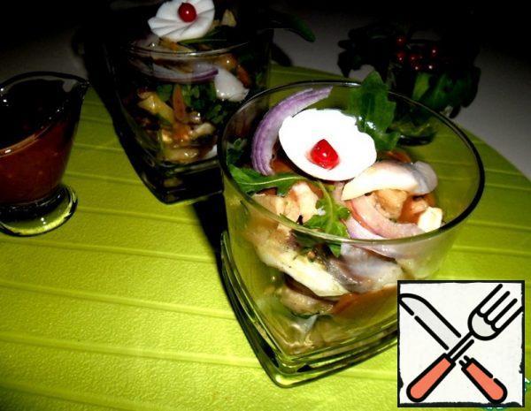 Herring Salad with Fruit Sauce Recipe
