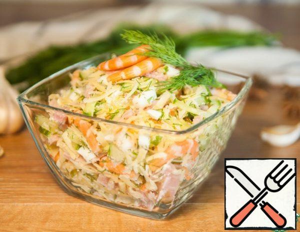 Salad with Shrimp and Ham Recipe