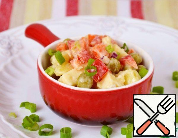 Vegetable Salad with Cheese Recipe