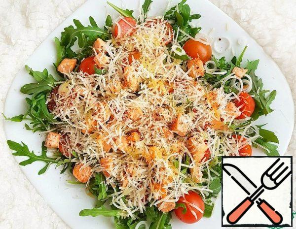 Salad with Red Fish and Arugula Recipe