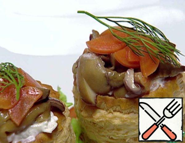 Tartlets with Mushrooms Recipe