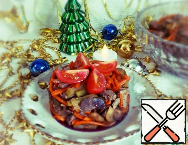 Salad with Liver and Mushrooms Recipe