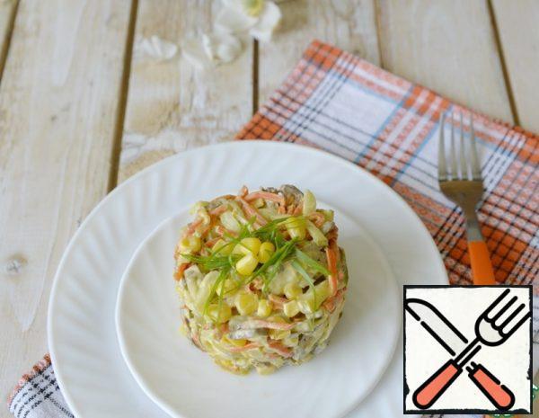 Chicken Liver Salad with Corn Recipe