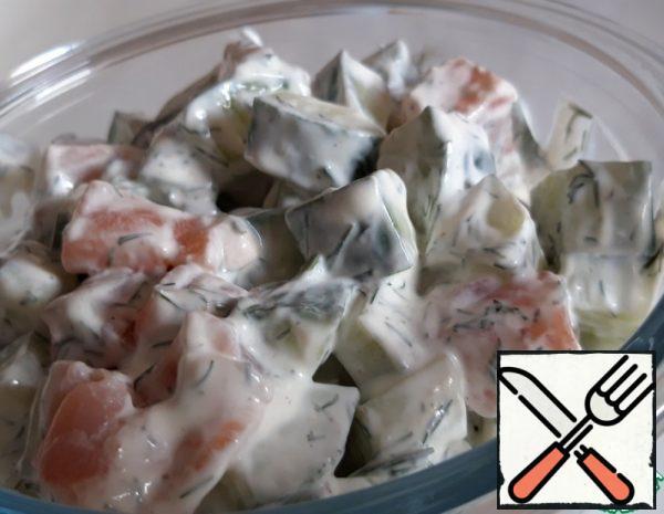 Cucumber-Salmon Salad Recipe