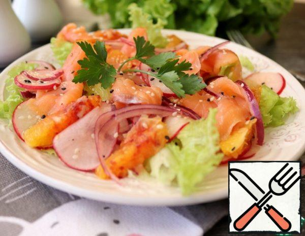 Salad with Orange and Red Fish Recipe