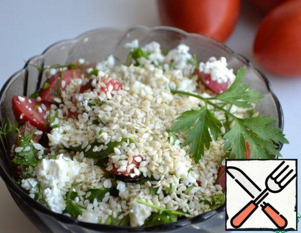 Cottage Cheese Salad with Sesame Seeds Recipe