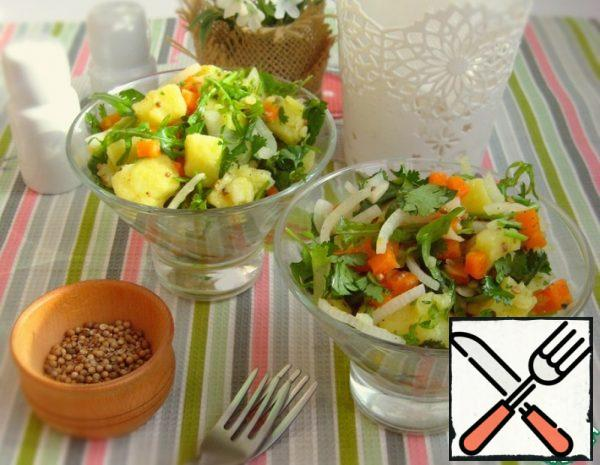 Vegetable Salad with Coriander and Coriander Seeds Recipe