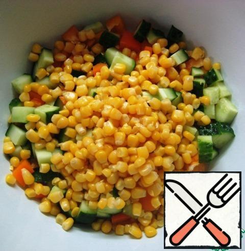 Add corn to them (pre-drain the liquid from the jar).