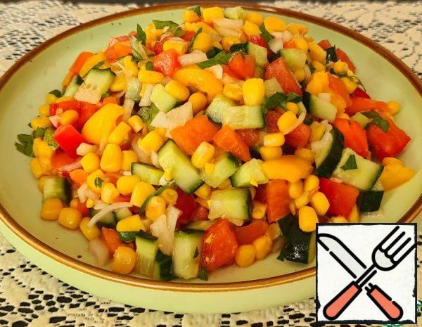 Fresh Salad without Mayonnaise Recipe
