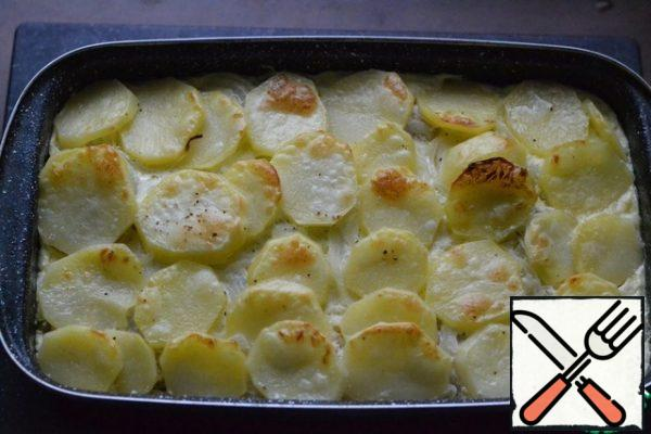 Remove the foil or lid and bake until golden brown. ((15-20 min.)