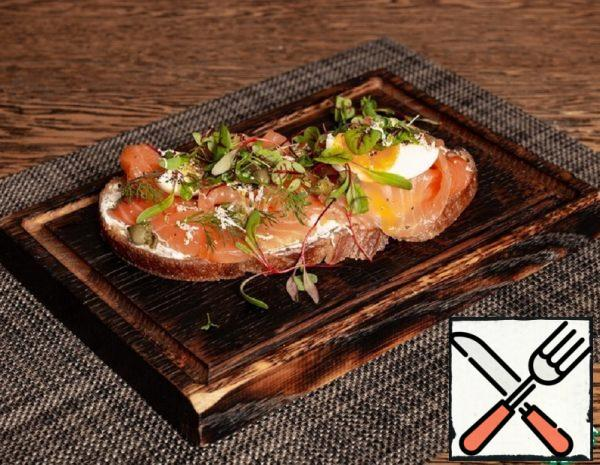 Bruschetta with Salmon and Cottage Cheese Recipe