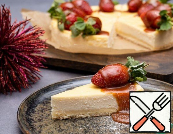 Cheesecake with Strawberries and Caramel Recipe