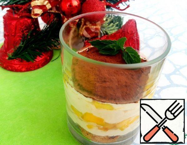"Portion ""Pseudo-Tiramisu"" with Mango Recipe"