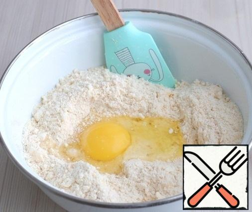 Next, add the egg (1 pc.)