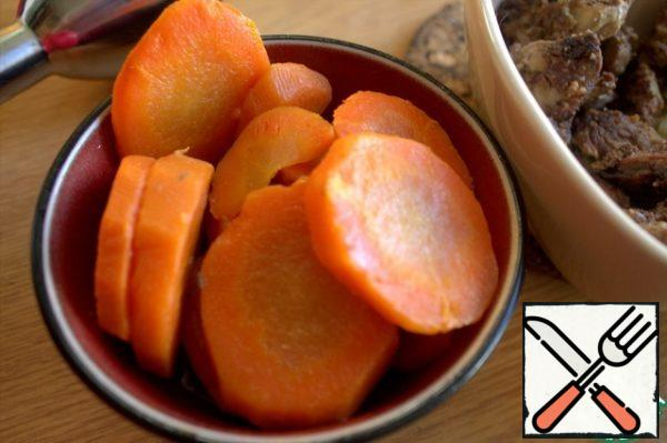 Boil the carrots in advance.