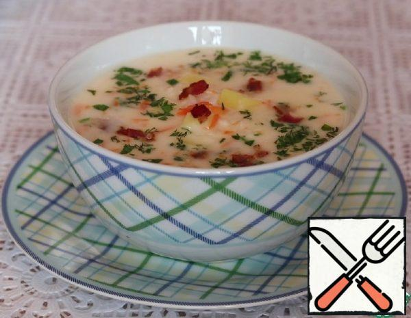 Cheese Soup with Bacon Recipe