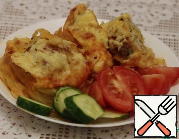 Nests with Minced Meat in the Oven Recipe Recipe