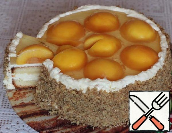 Sponge Cake with Peach Recipr
