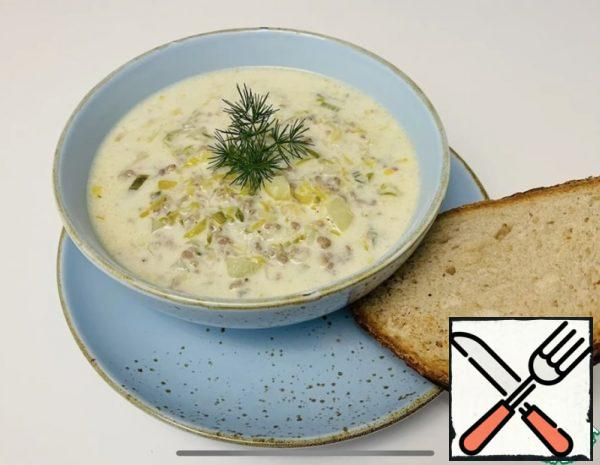 Cheese Soup with Leek Recipe
