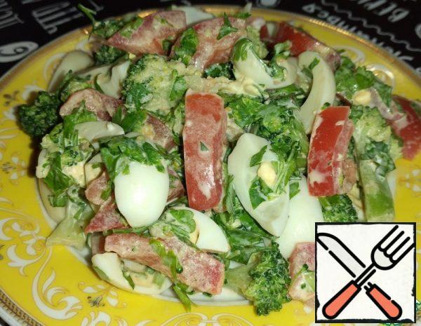 Salad with Broccoli and Quail Egg Recipe
