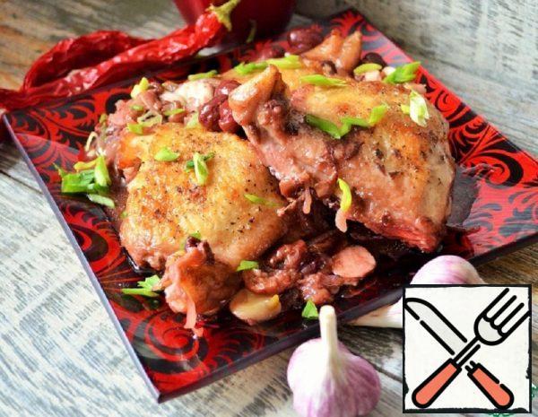 Chicken Thighs with Cherries Recipe