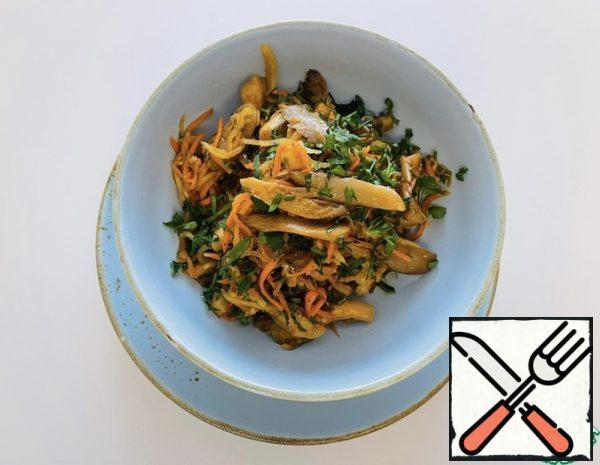 Spicy Salad with Mushrooms Recipe